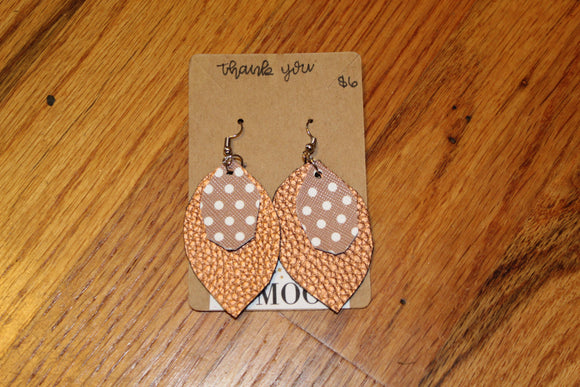 Copper and Polka Dot earrings