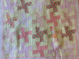 Baby Quilt with Pastel Pink Pinwheels