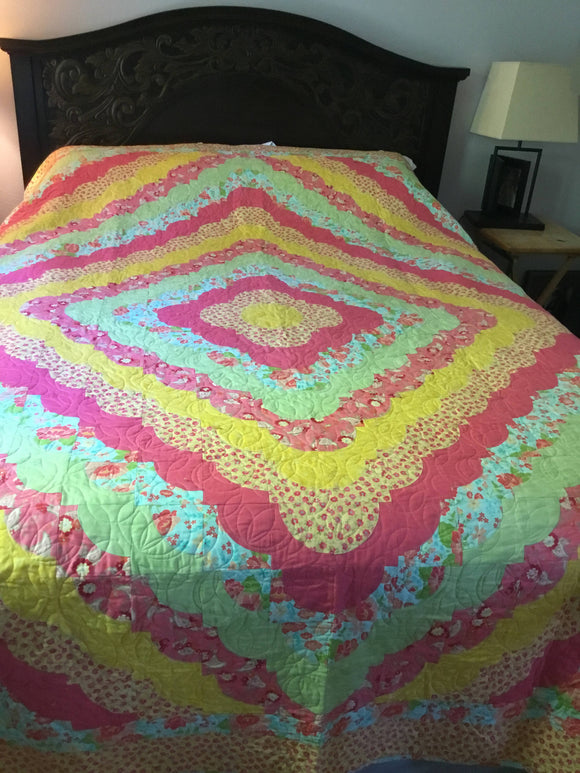Vintage Style Quilt Queen Size - Gift for Her