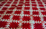 Handmade Red and White Christmas Kisses Queen Size Quilt