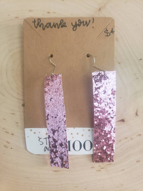 Pink sparkles earrings