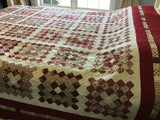 Traditional Queen Quilt--Handmade Christmas Gift
