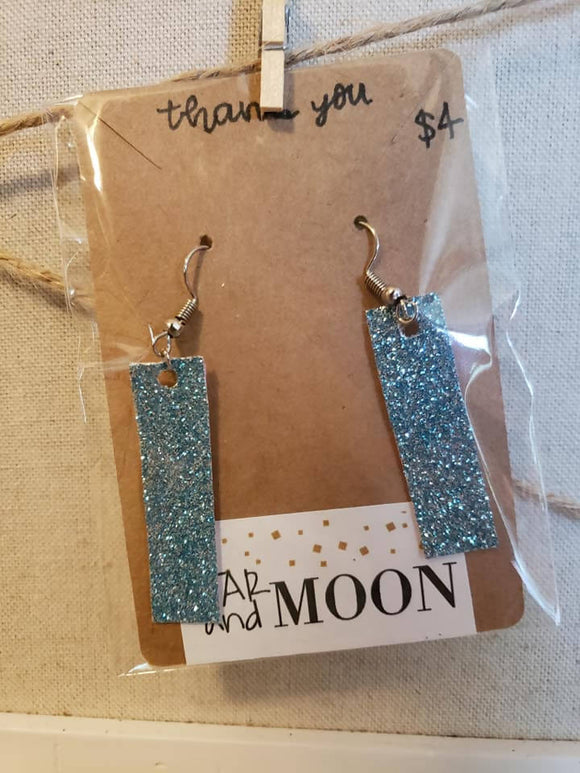 Aqua sparkles earrings