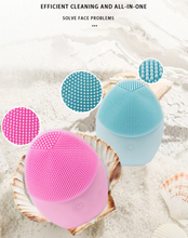 Load image into Gallery viewer, Silicone Electric Facial Cleansing Brush