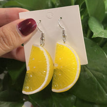 Load image into Gallery viewer, Long Pendant Fruit Earrings