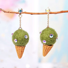 Load image into Gallery viewer, Handmade Wool Dangle Earring