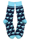 Horses in Light Blue and Navy