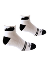 Kentucky Shape Ankle Sock White and Black