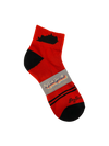 Kentucky Shape Ankle Sock Red and Black