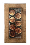 Bourbon Barrel Heads Wooden Art