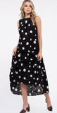 Delfina Polka Dot Tiered Dress