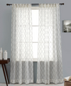 Cascade Embroidery on Sheer Linen Curtain