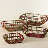 Colored Jute Basket