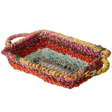 Colored Rectangle Jute Basket