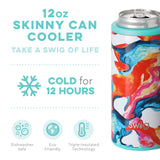 Color Swirl Skinny Can Cooler 12 oz.