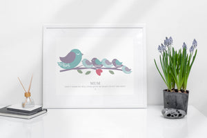 Personalised Childrens Bird Name Print