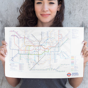 London Underground Tube Map Poster