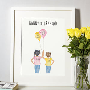 Miss you Nanny and Grandad Custom Print