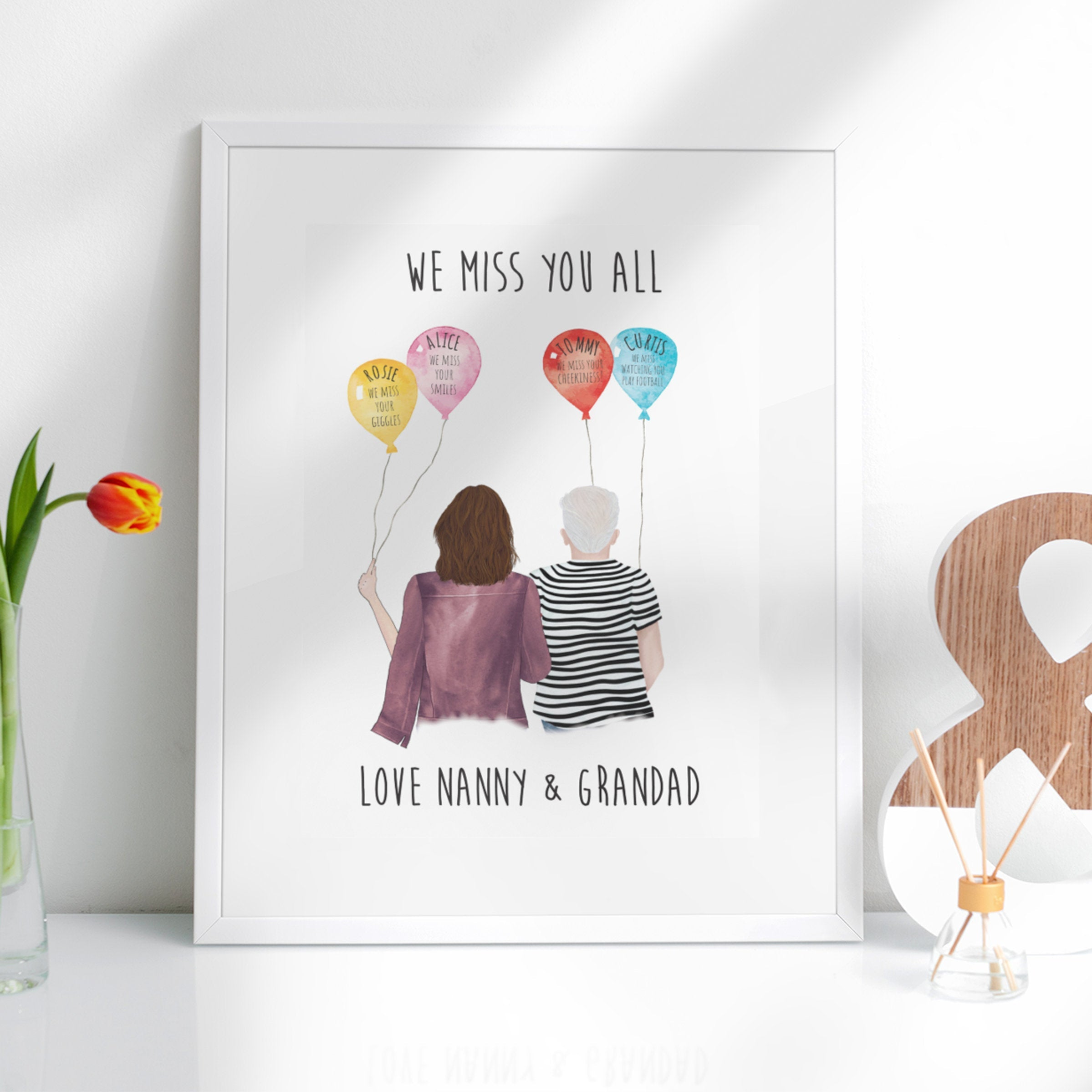 We Miss You custom print