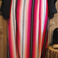 Rock & Roll Cowgirl Pink Striped Skirt
