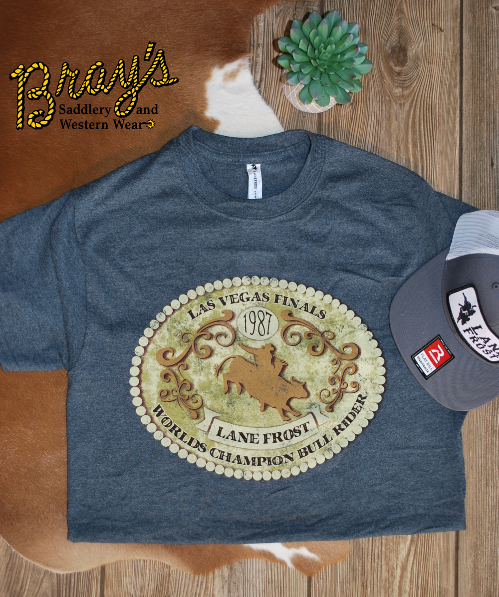 Lane Frost 1987 Bull Riding Championship Buckle T-Shirt