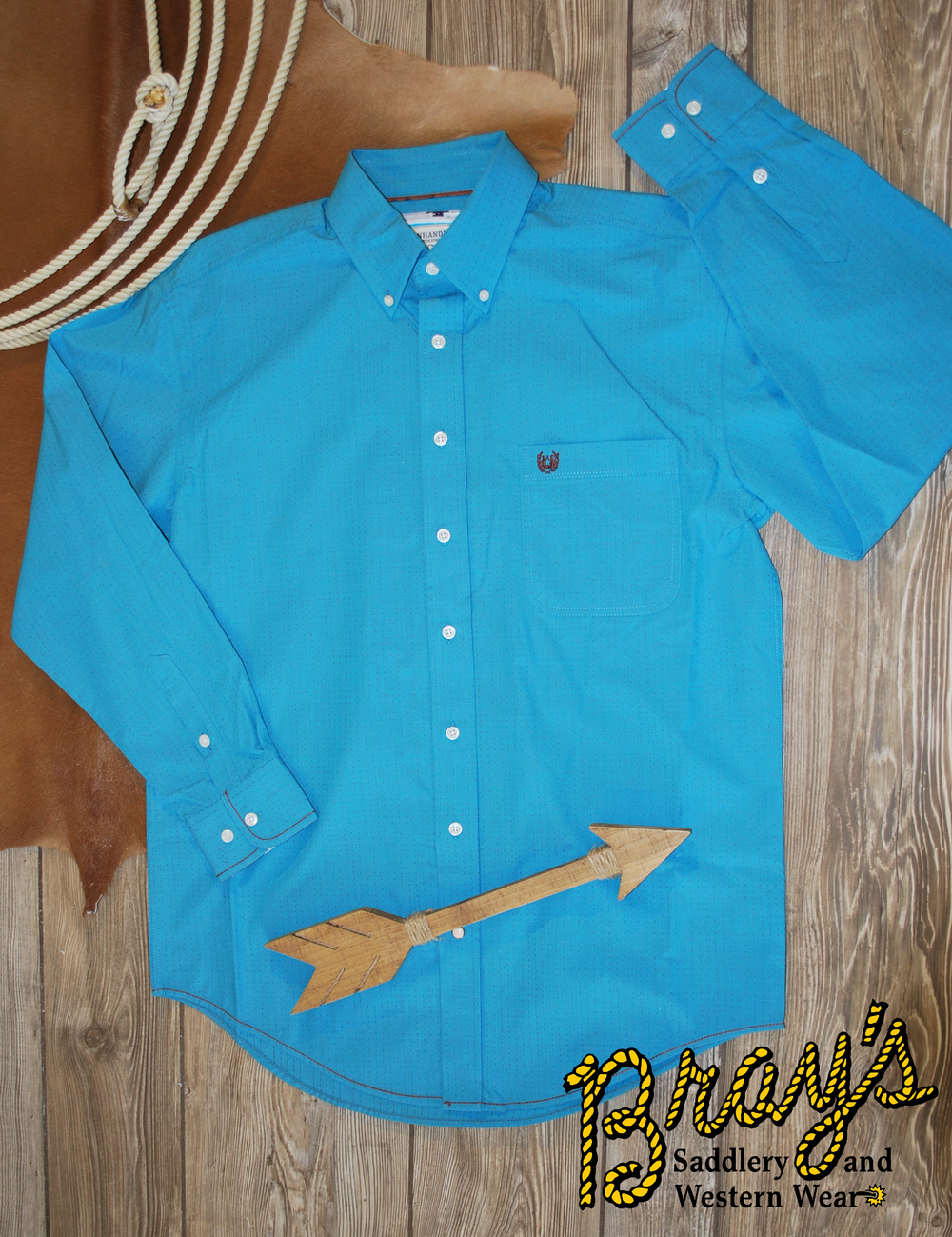 Panhandle Turquoise Button Shirt