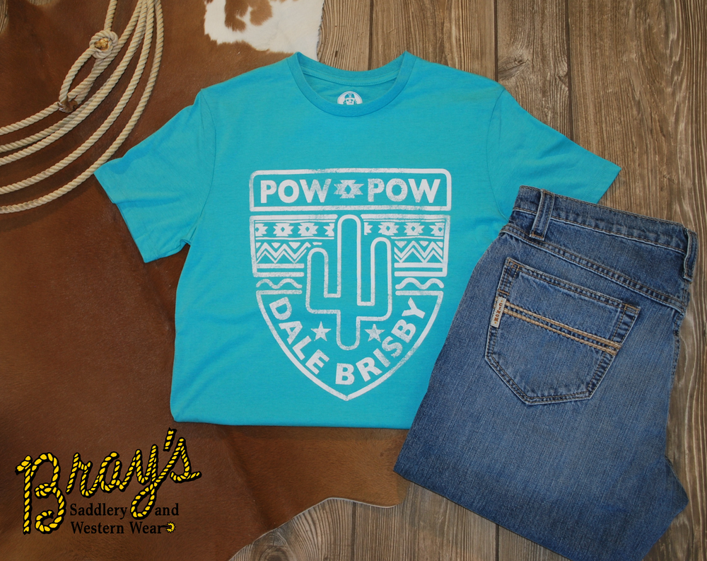 Dale Brisby  Turquoise Pow Pow T-Shirt