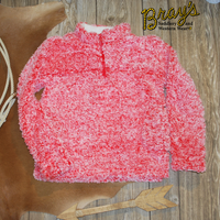 Girls' Cozy Fleece Coral Heather Pullover