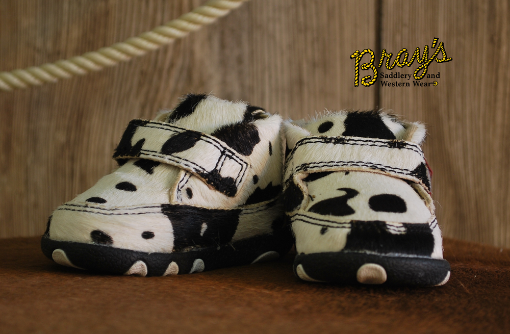 Twisted X Infant Cow Print Driving Moc