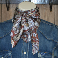 "Wild Rag 42"" X 42"" {Brown Paisley}"
