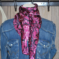 "Wild Rag 42"" X 42"" {WT Red & Black Paisley}"