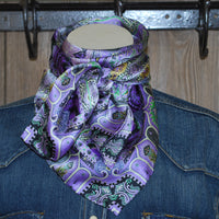 "Wild Rag 34.5"" X 34.5"" {WT Charmeuse #3 Lilac and Lace}"
