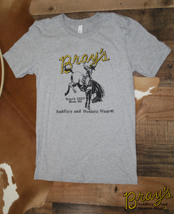 Bray's Saddlery Logo T-shirt {Grey}