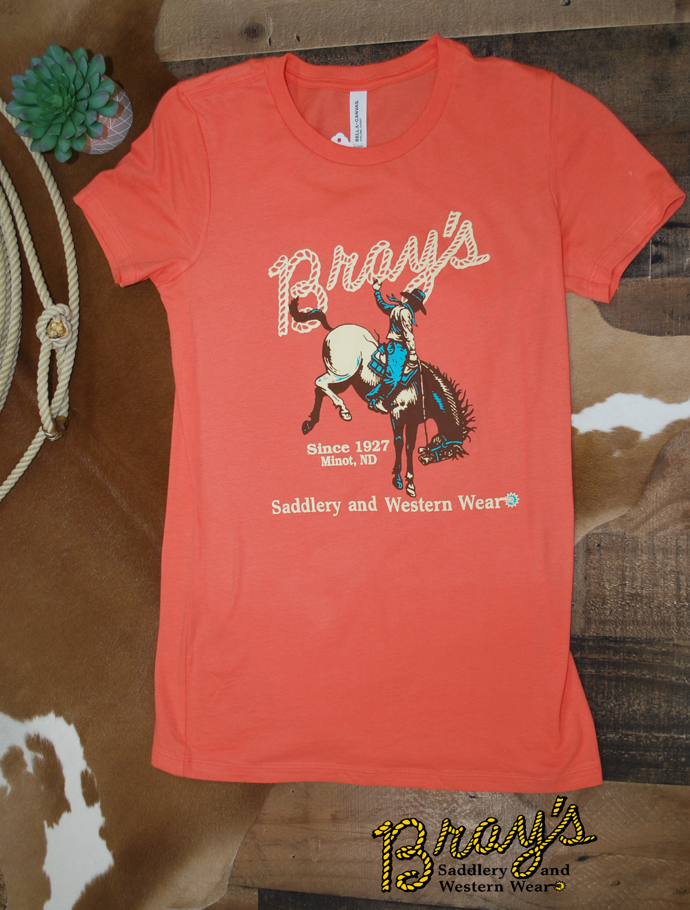 Bray's Saddlery Ladies Logo T-shirt {Corral}
