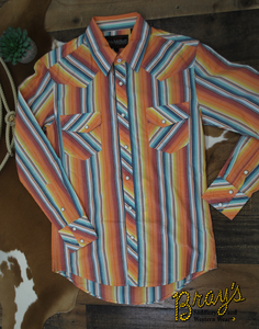 Dale Brisby Vintage Striped Snap Shirt by Rock and Roll Cowboy