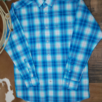 Ariat Pro Series Somerton Tile Blue Button Shirt