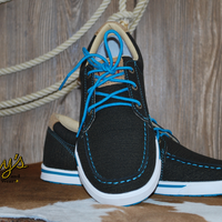 Twisted X Women's Kicks {Charcoal/Turquoise}