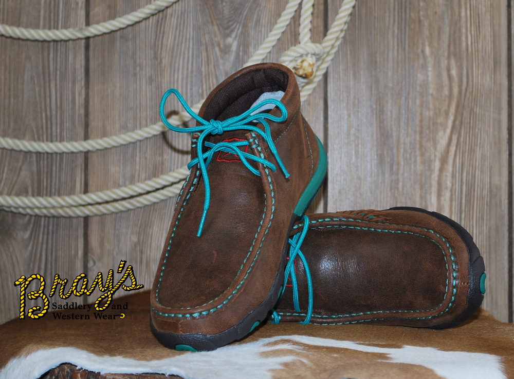 Twisted X Women's Chukka Driving Moc {Brown/Turquoise}