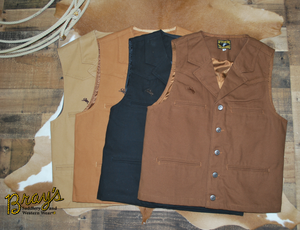 Wyoming Trader Bronco Canvas Vest {Original Canvas Vest}