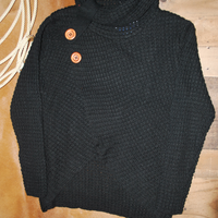 Panhandle Black Cowl Neck Sweater