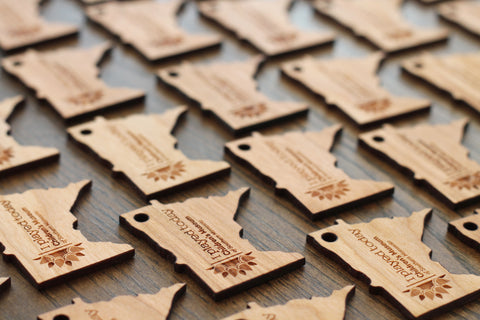 Branded Wooden Keychains