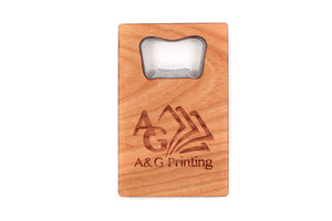 custom branded wooden bottle opener corporate promotional gift Smiling Tree
