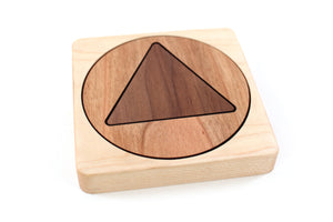 sustainable corporate gift wooden coaster puzzle Smiling Tree Gifts
