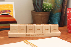 employee anniversary gift ideas wood blocks with tray