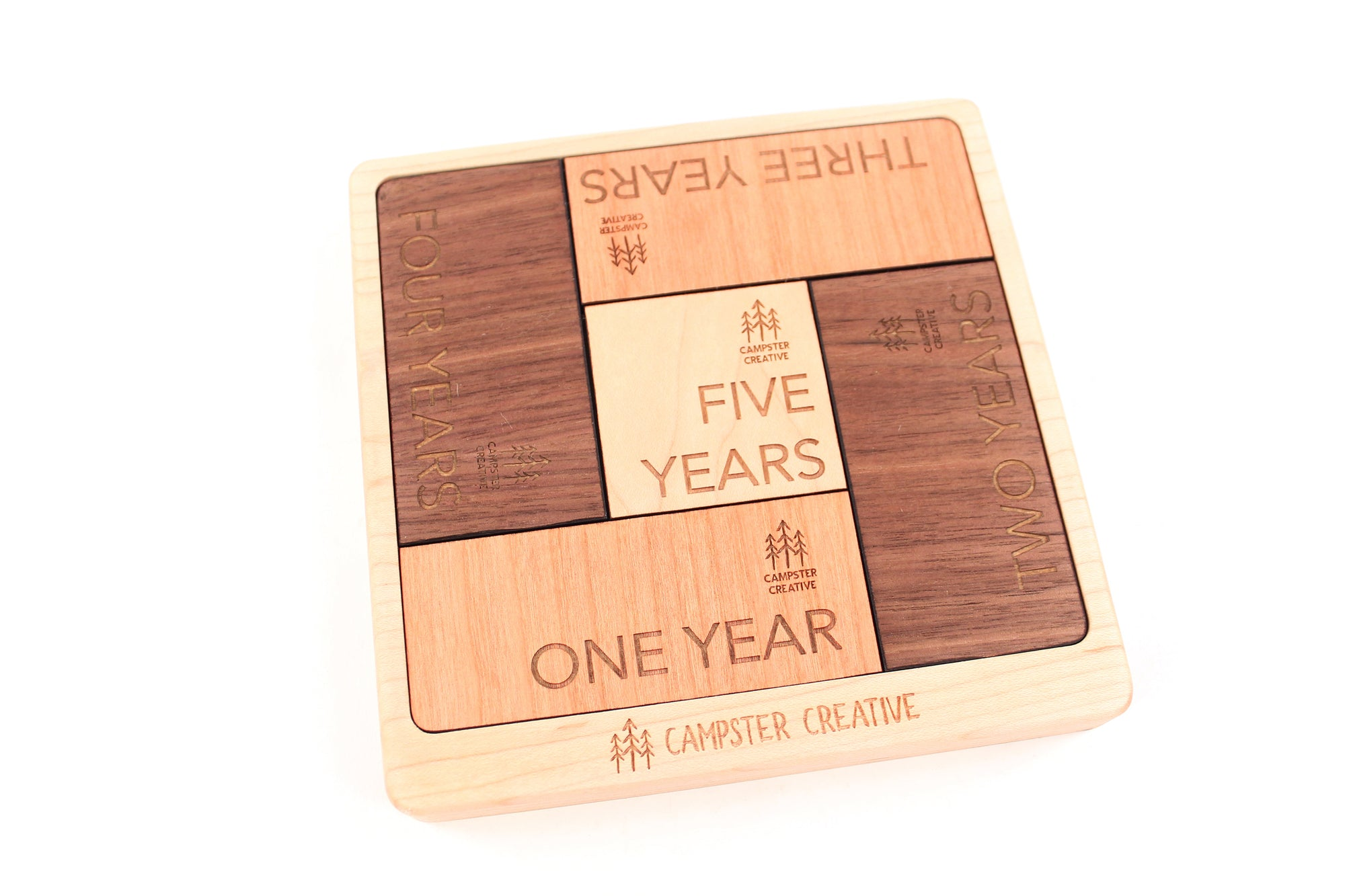employee anniversary gift idea wooden puzzle with logo