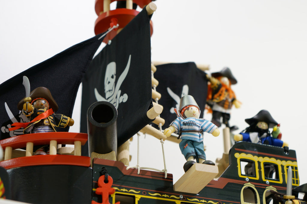 Wooden Toy Pirate Ship