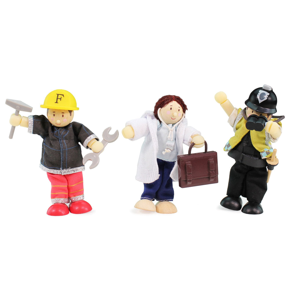 Fireman, Doctor & Police Gift Pack,  - Le Toy Van