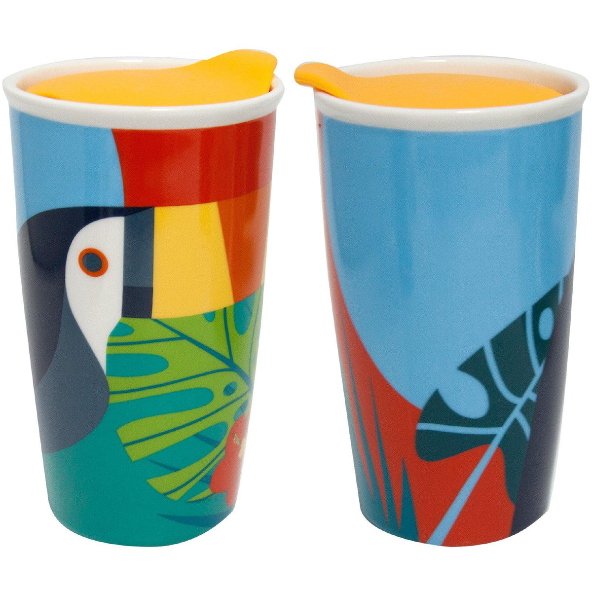 Toucan Ceramic Travel Mug W/ Lid