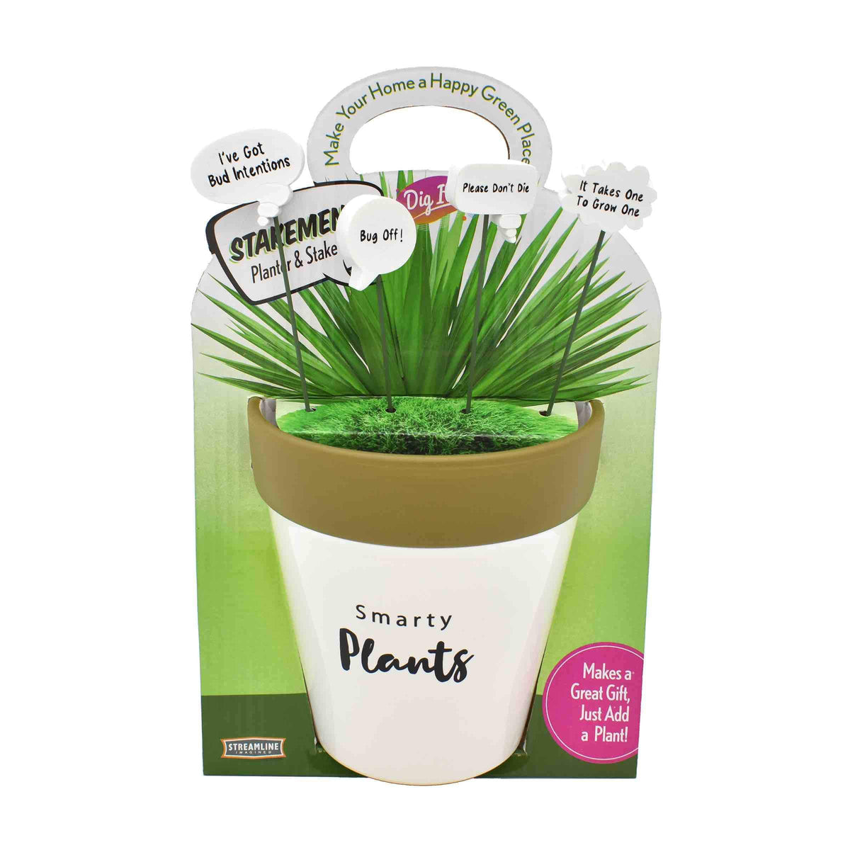 Quoted Planter & Stakes Set
