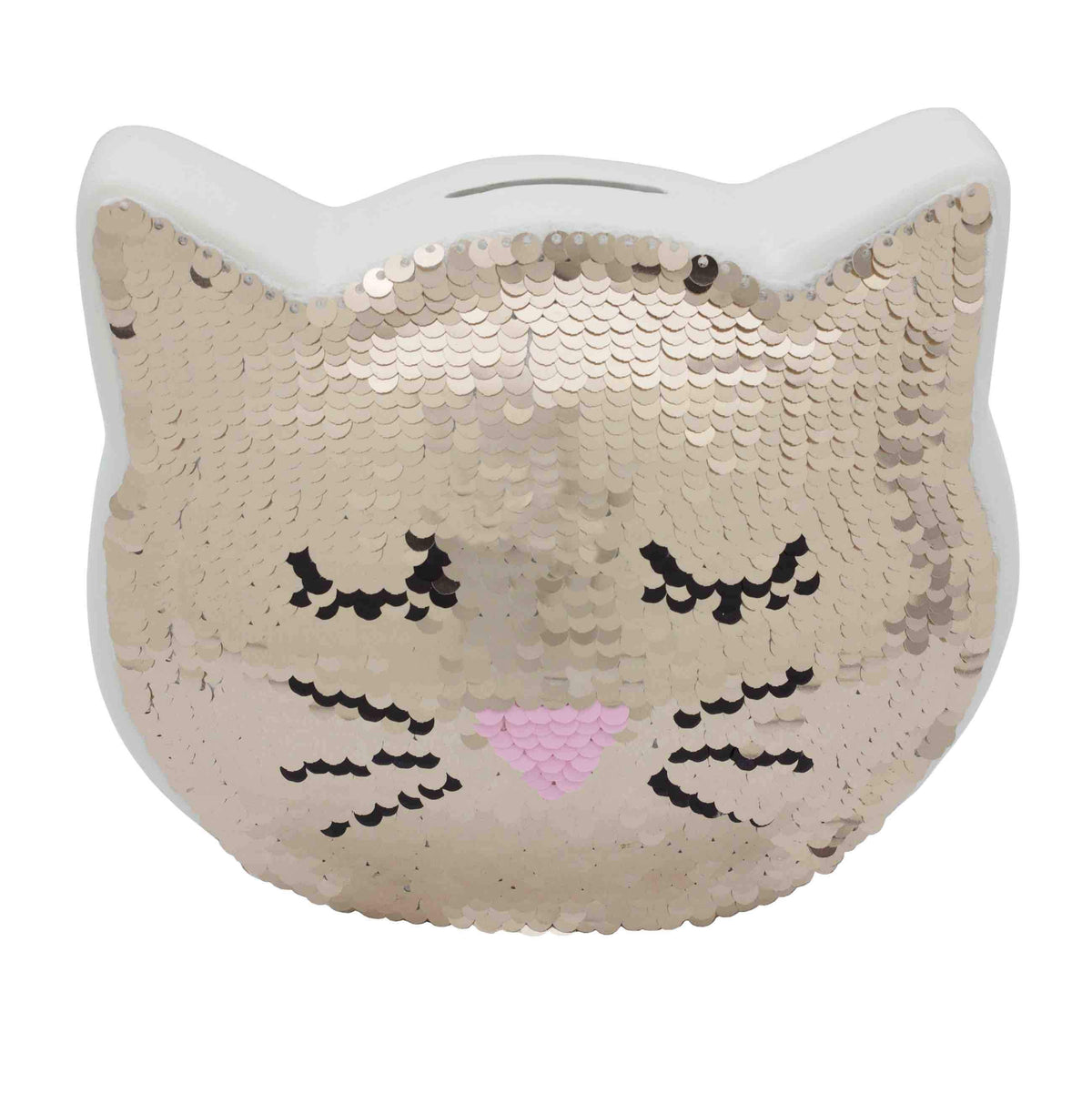 Sequin Cat Money Bank